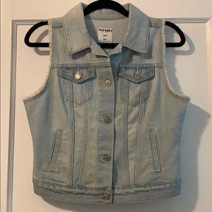 Old Navy Blue Jean Vest